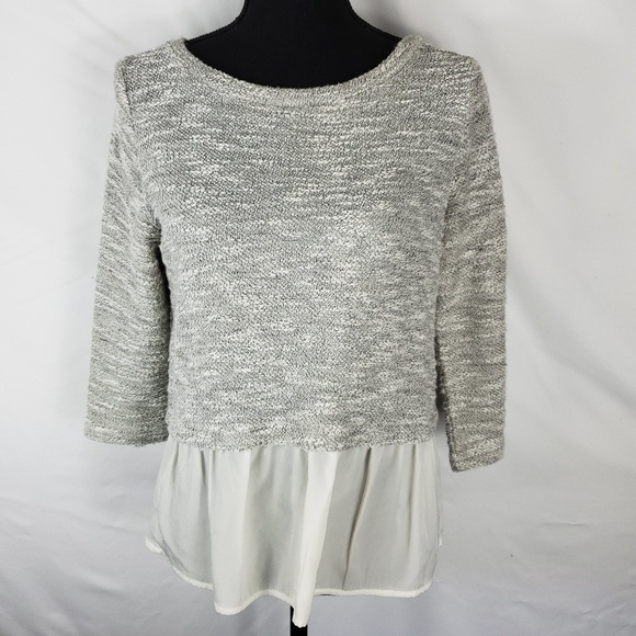 Anthropologie Sweaters - Split Back Sheer Bottom Sweater Top by Postmark
